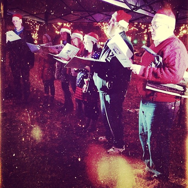 Carols were to be heard by all on the square!