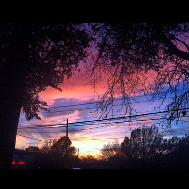 Denton got some badass sunsets last week. This was just one of 'em. Photo by  Jessica Hume .