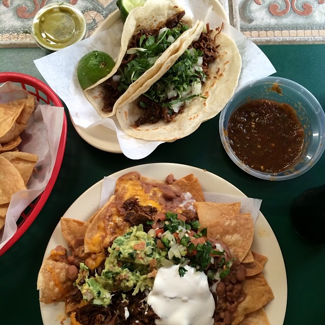 Nachos and tacos at La Sabrocita on Dallas Dr. Hungry yet?