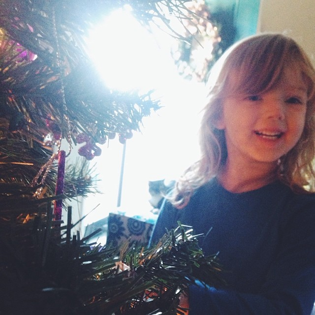 Last week was Christmas, of course. We loved seeing all of the photos of your trees and decor. Here's one from  Shaina Sheaff.