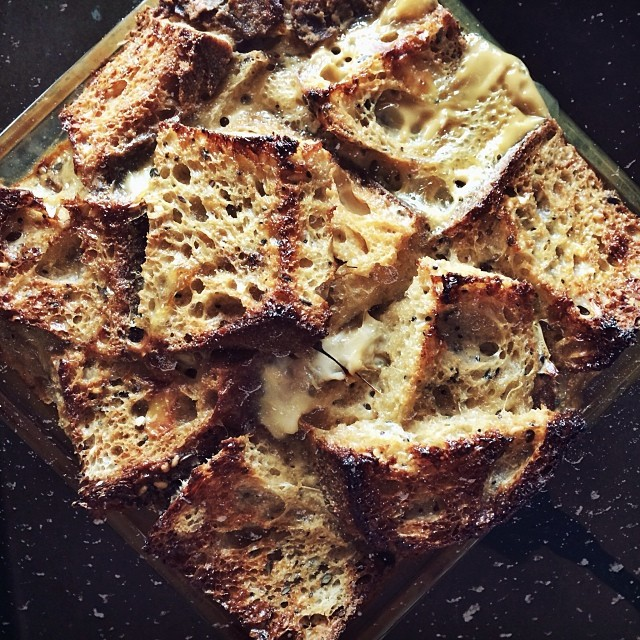 We baked some French toast during an ice storm once in 2013.