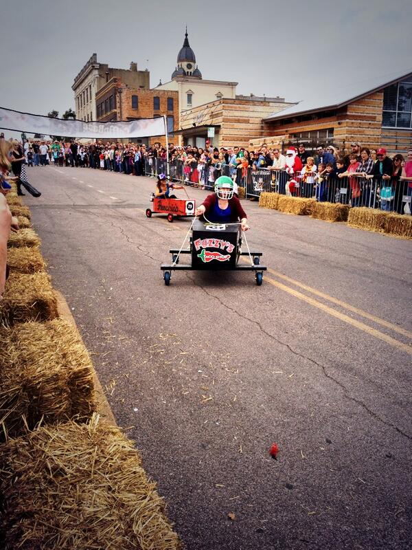 From this year's coffin races at the Day of the Dead festival. Photo by  Kimberly Flanagan .