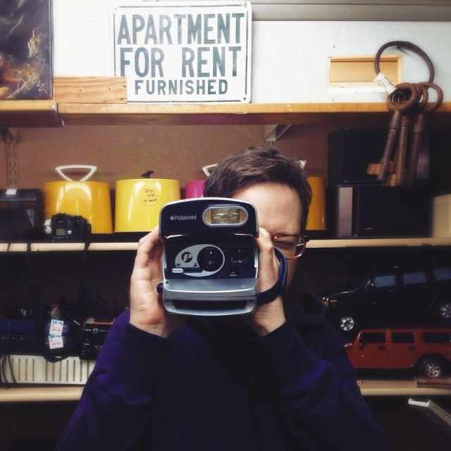 Reader  @ThePaigels  found a Polaroid while vintage shopping.