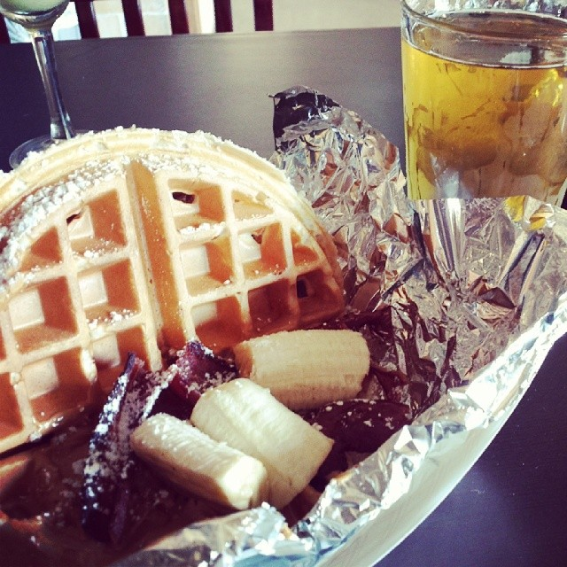 ...and, of course, the PBBB (peanut butter, banana, and bacon) waffle. Photo by  Stefania K.