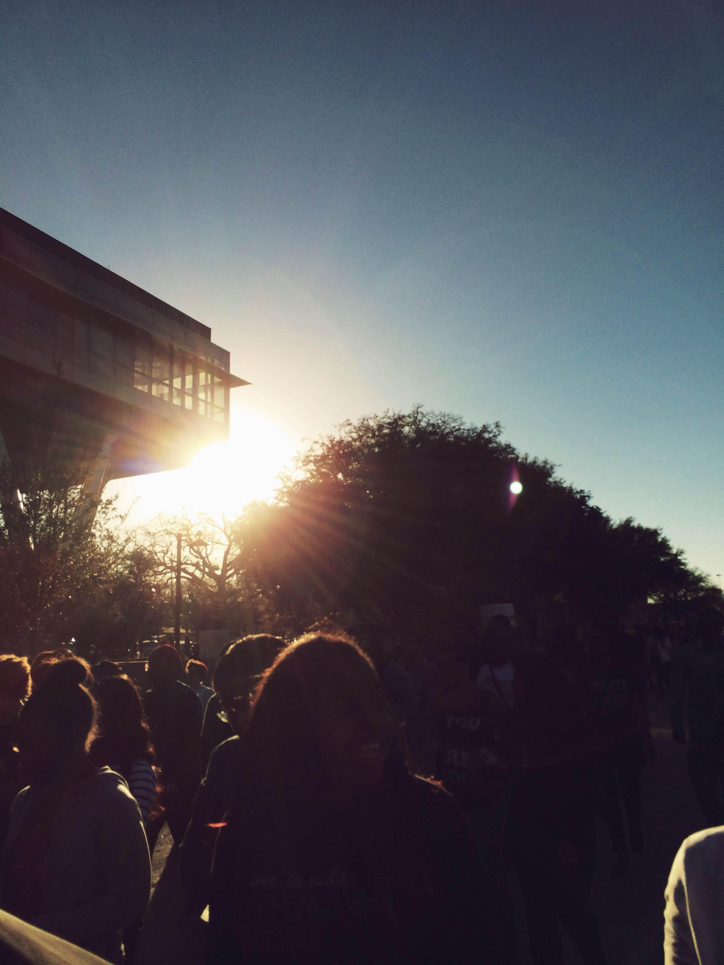 We joined the march from UNT to the MLK Center to celebrate Dr. King's legacy.