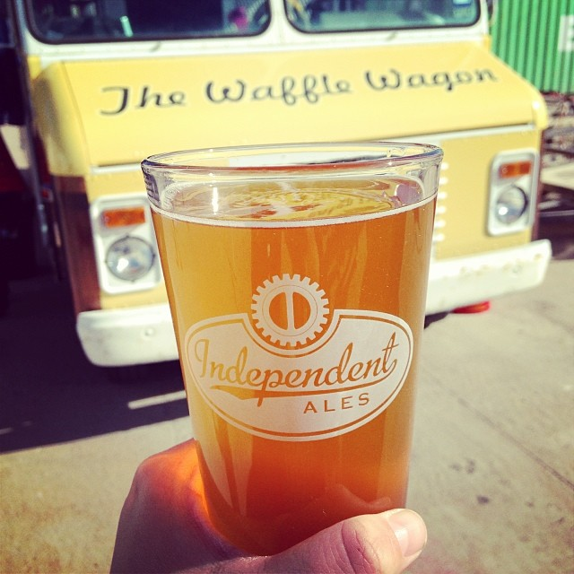 Another great combo: some Independent Ale and some Waffle Wagon. Photo above from reader  Erin O'Toole.