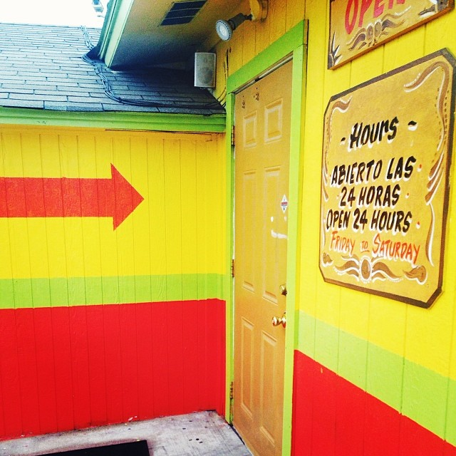 Our breakfast taco battle is coming soon. Get ready to angrily comment on things on the internet. Here's a photo of the awesome yellow door of La Sabrocita. Photo by  @  S  hainaSheaffPhoto