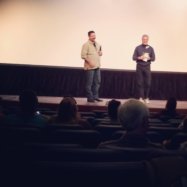 Sean Starr ( whom we interviewed last spring ) was on hand and taking questions for a screening of Sign Painters, the movie he is also featured in. Photo by  Todd Spigener.