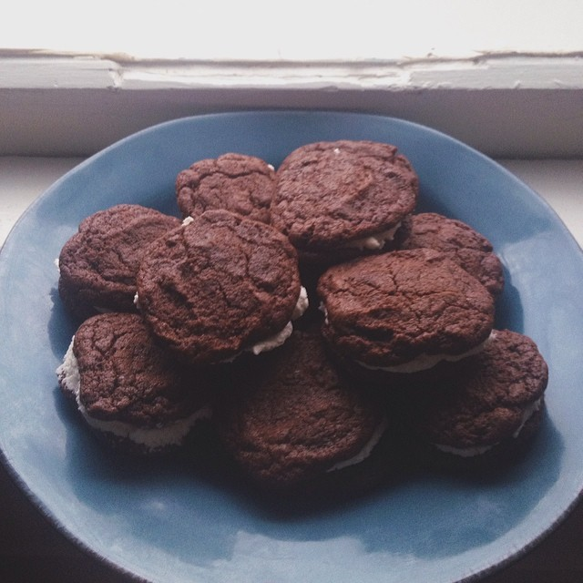 Homemade oreos. Photo by  Gabe Bunch . Are they double stuffed, though?