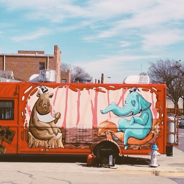 The food truck scene in town is getting better and better. We consistently have four or five trucks out on most weekend nights and we're bringing in more and more trucks from out of town. This weekend, we saw  Bellatrino , the pizza truck, and Dough Boys, as well. Photo from Paige Gibson .