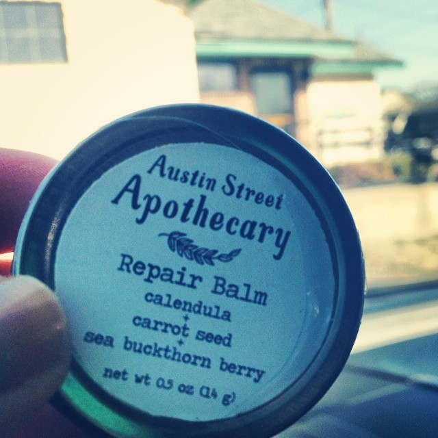 Austin Street Apothecary has been keeping our hands healthy this winter, too. We can't wait for their new products including a spring scene for their beard tonic. Photo by  @kokiri330 .