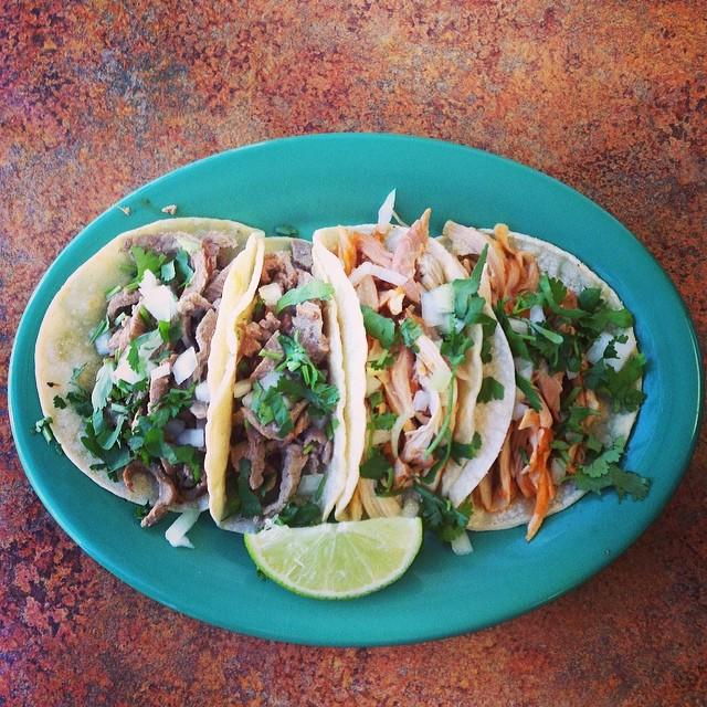 Requisite taco photo from  Shaina Sheaff.  Tacos from El Taco Rico.