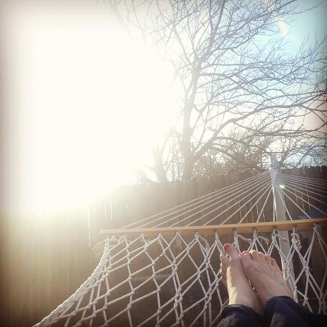 Shaina Sheaff  enjoyed the sunshine the right way. By the way, nice hammock. Now we're jealous.