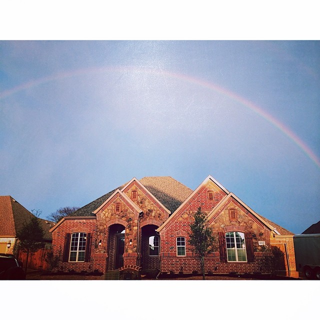 Oh yeah, did we mention there were rainbows aplenty in Denton on Saturday? Double rainbows in some areas, even. Nobody seemed to know what it meant on Instagram. Too bad it didn't turn into a quadruple rainbow, though. Photo by  @zach_ashcraft.