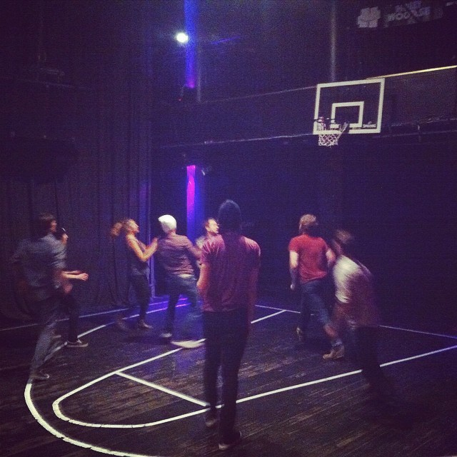 Midlake showed some folks in Europe how Texans dominate at bball. Photo by  @mccjoey .