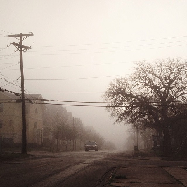 We had a super foggy morning last week. Photo by  @thepaigels .