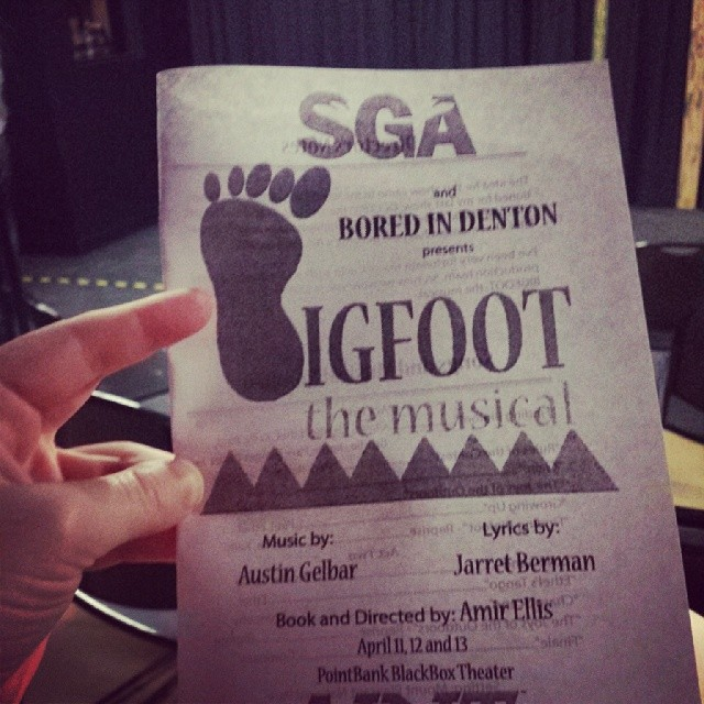 Bigfoot got spotted in an original musical at UNT last weekend. Photo by  Erin Nicole.