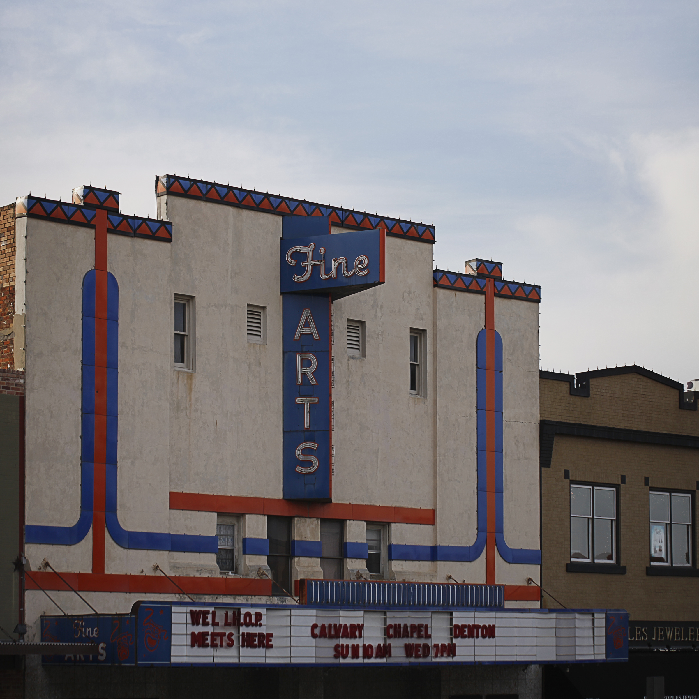 The Fine Arts Theatre will soon be showing movies.