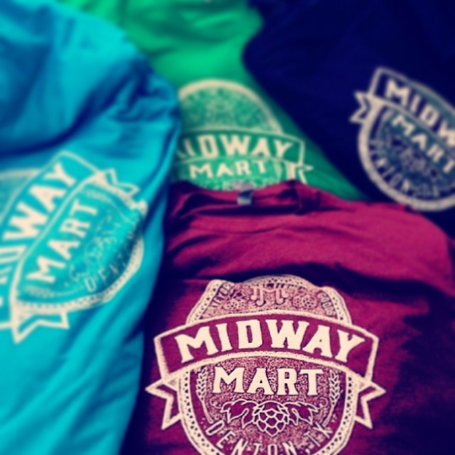 Have y'all seen these awesome new Midway Mart shirts from Pan Ector? We want one!Photo by Ben Esely (again - dude is on a roll).
