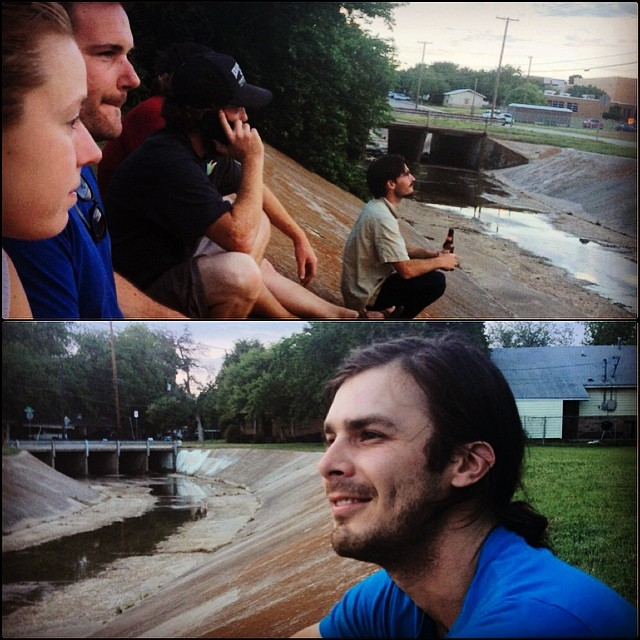 Friends near a flooded ditch and it's not even Jazz Fest anymore! Photo by  @dearedeker .