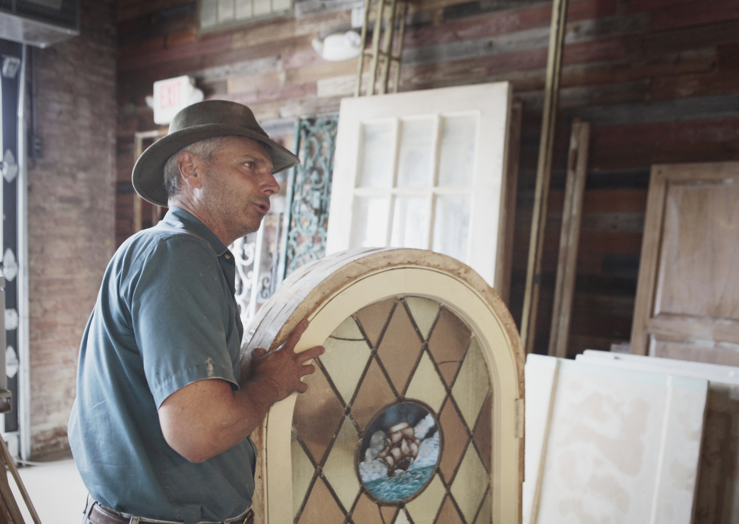 Erik Stensen shows us some of the cool decor that will be up at the new Hoochie's location.