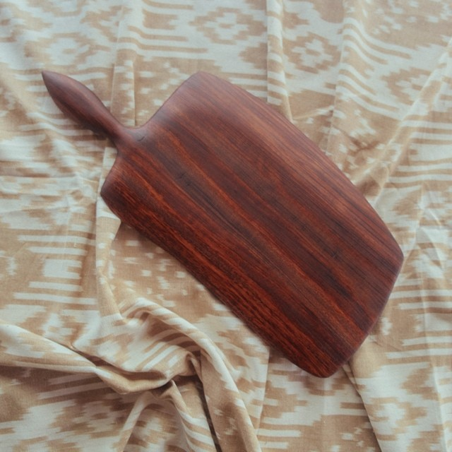 Local furniture makers, Pastrana Studio, gave away one of their beautiful serving boards through their instagram account last week. If you don't already  follow them , you better start.