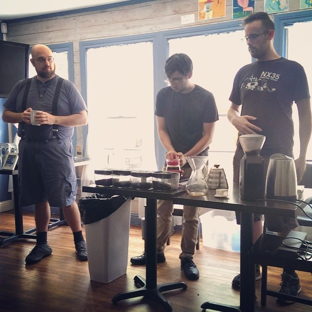 Macaroni Island's coffee tasting. @thedapperbat was there to catch it all.