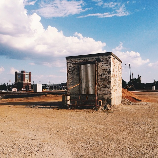 Molly Valdez shares one of our favorite spots in town to shoot. This is over by the DCTA station which you can see in the background.