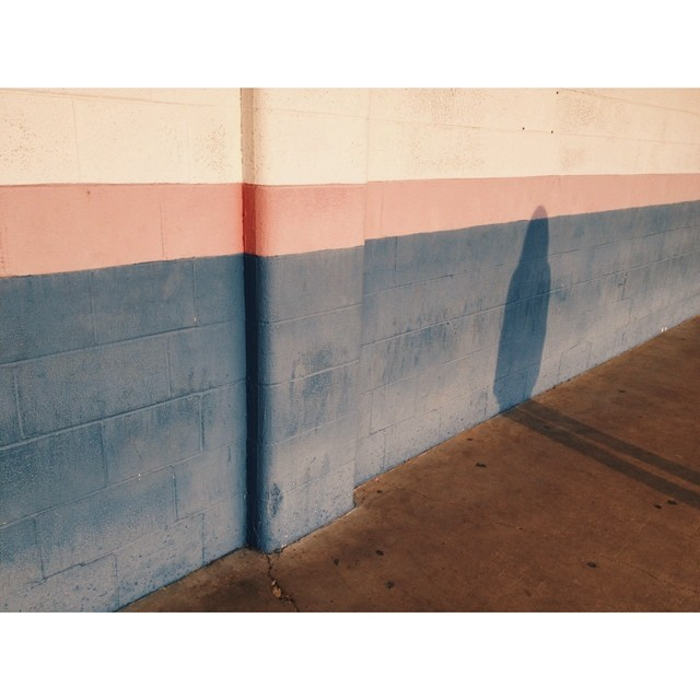 Shadows and Rothko-esque walls in town.