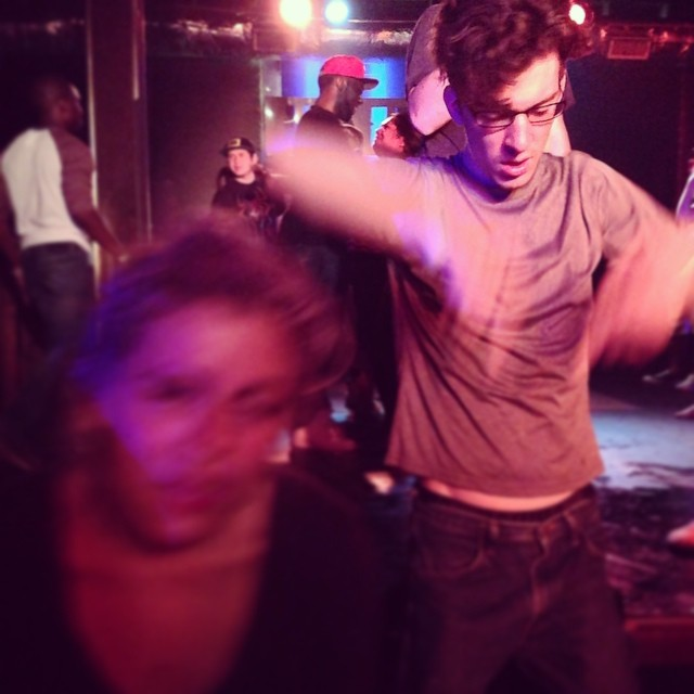 This is how one dances at a 90's party.