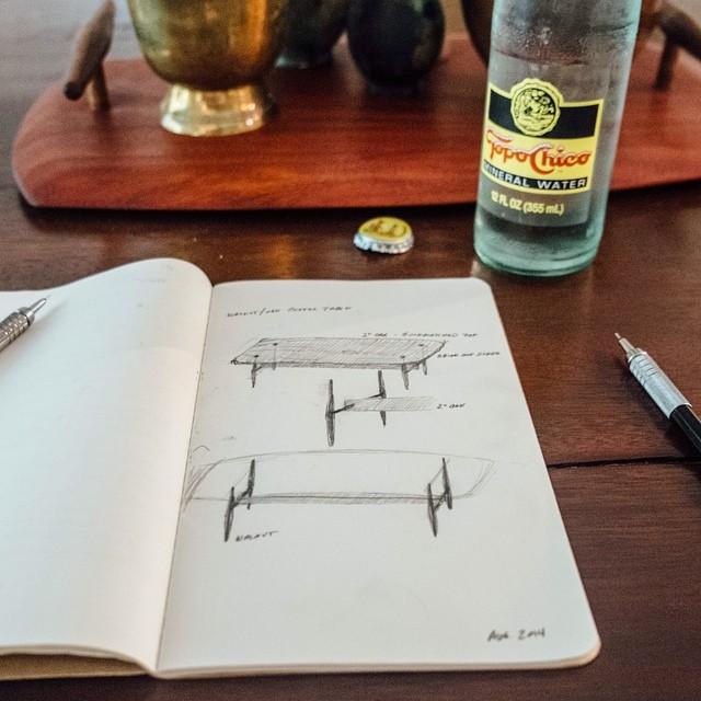 Pastrana Studio studies the right way - with Topo Chico in hand.