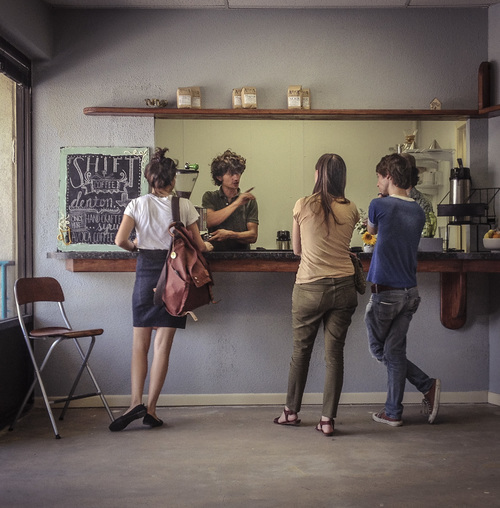 The interior of the old Shift Coffee.