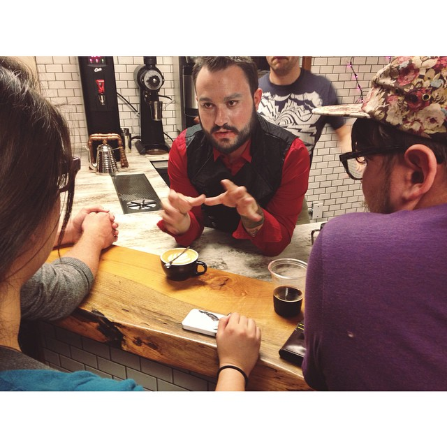 The first of many barista competitions at Cultivar Coffee.