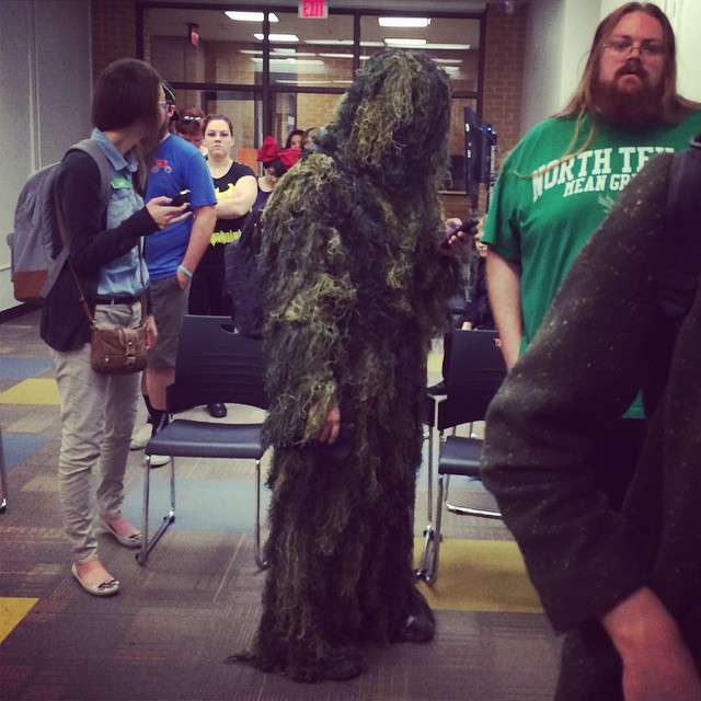 Early voting at UNT got a little punchy.