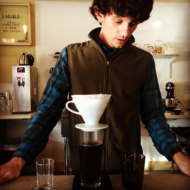 Making coffee at Shift.