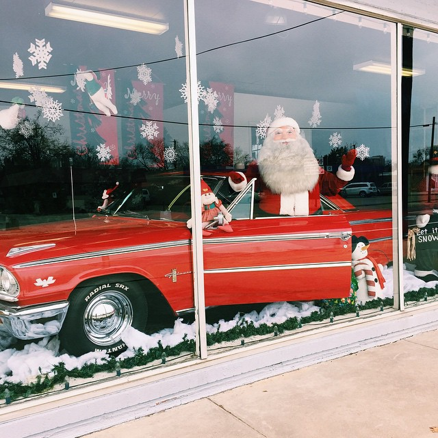 Cool cat driving Santa by @sloughdaddy.