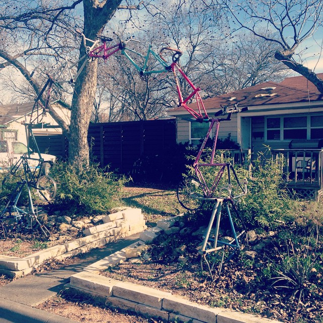 The Bike Arch is one of our favorite weird spots in Denton.