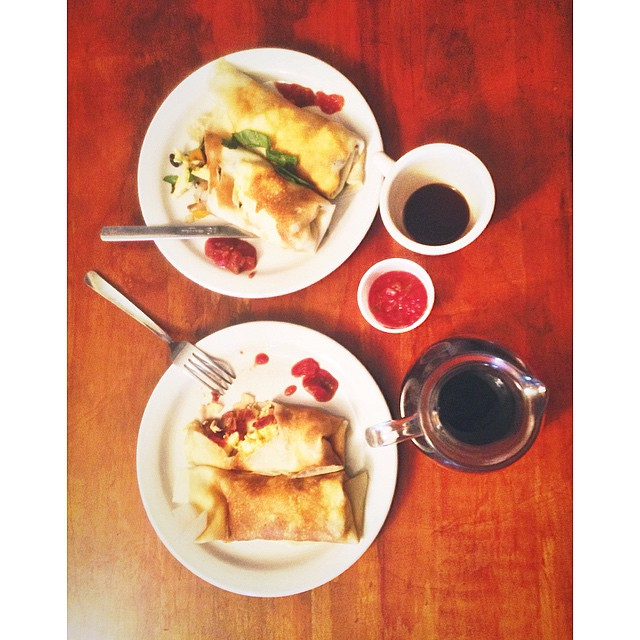 @ShopDenton was full of crepe at Cups and Crepes.