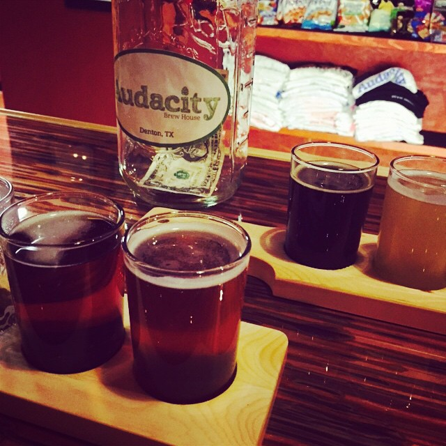 Beer flights at Audacity are the way to go.