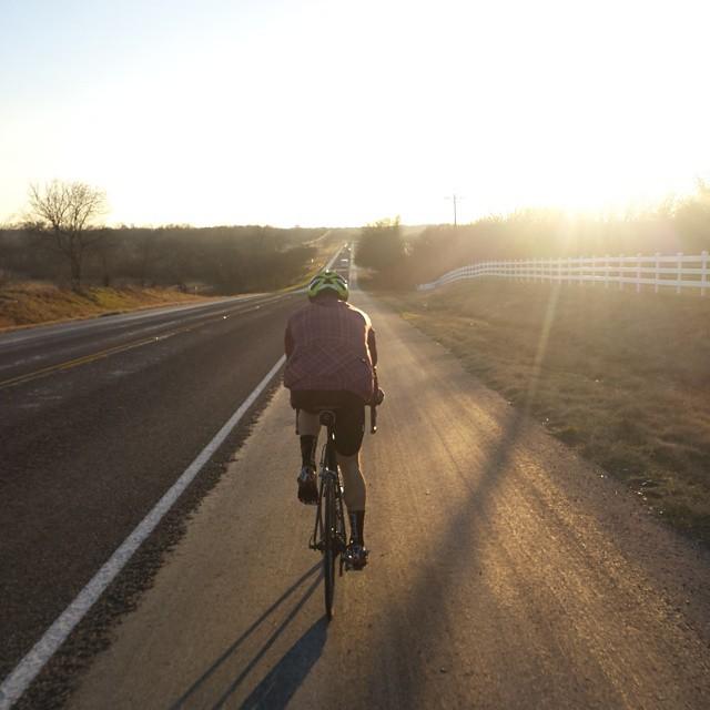 Early morning bike ride.