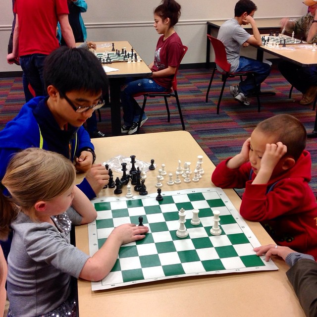Learning how to play chess at Emily Fowler. The library is more than just books, y'all.