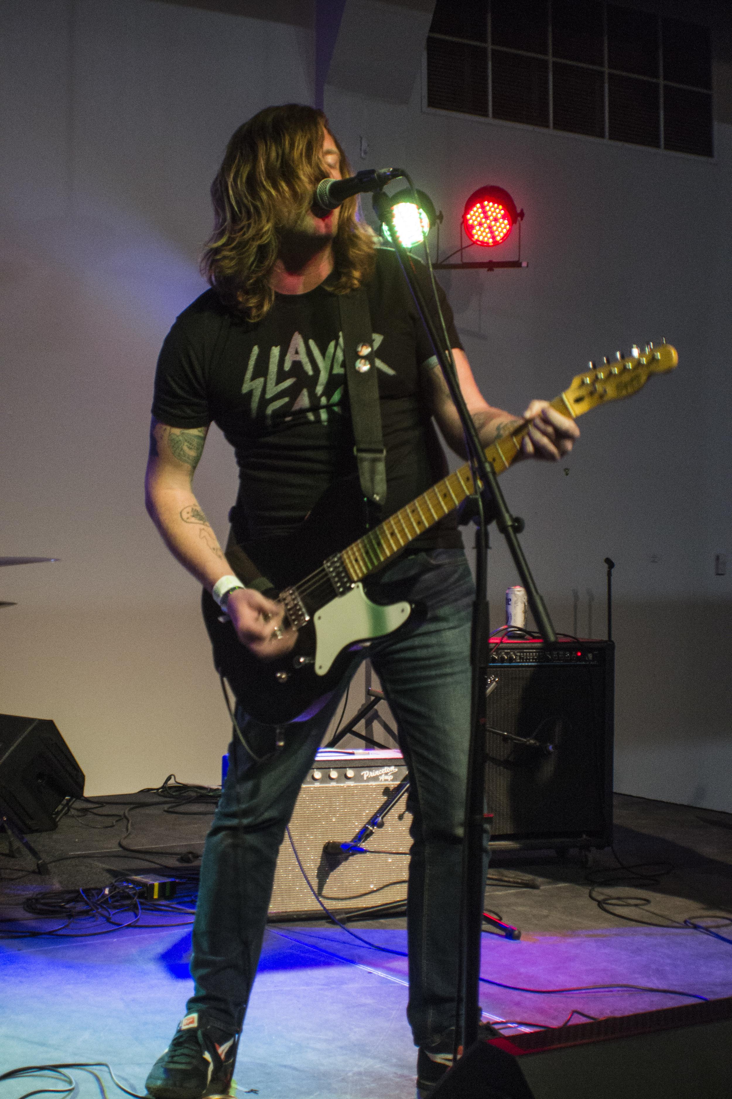 Daniel Markham at Greater Denton Arts Council. Photo by  Cynthia Pantaleon.