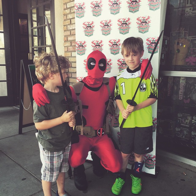 Deadpool visited More Fun on Free Comic Book Day.