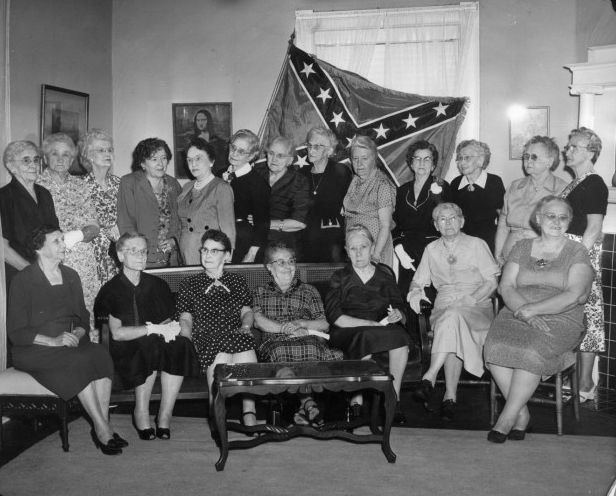 """A photograph of several """"Real Daughters of the Confederacy"""" members, Katie Daffan Chapter No. 933 of Denton TX. Courtesy of the  UNT Libraries and Portal to Texas History ."""