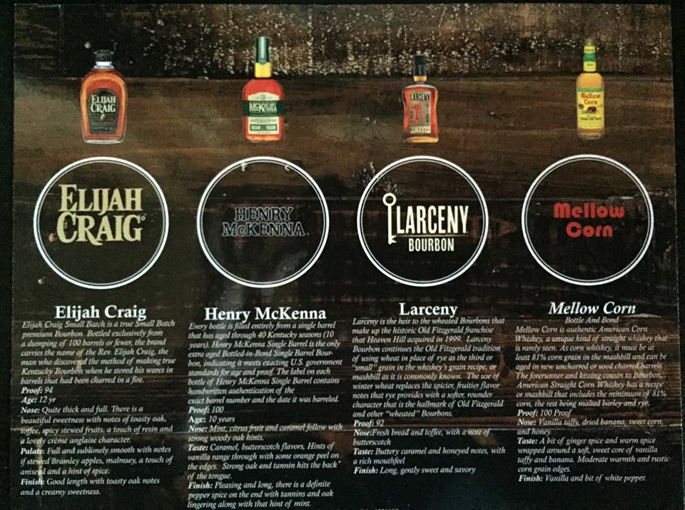 Whiskey tasting at Paschall's on Wednesday. Click to enlarge!