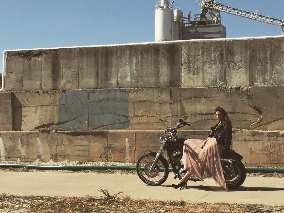 @thomas_c_rodgers' bike was used as a prop in the industrial part of Denton.