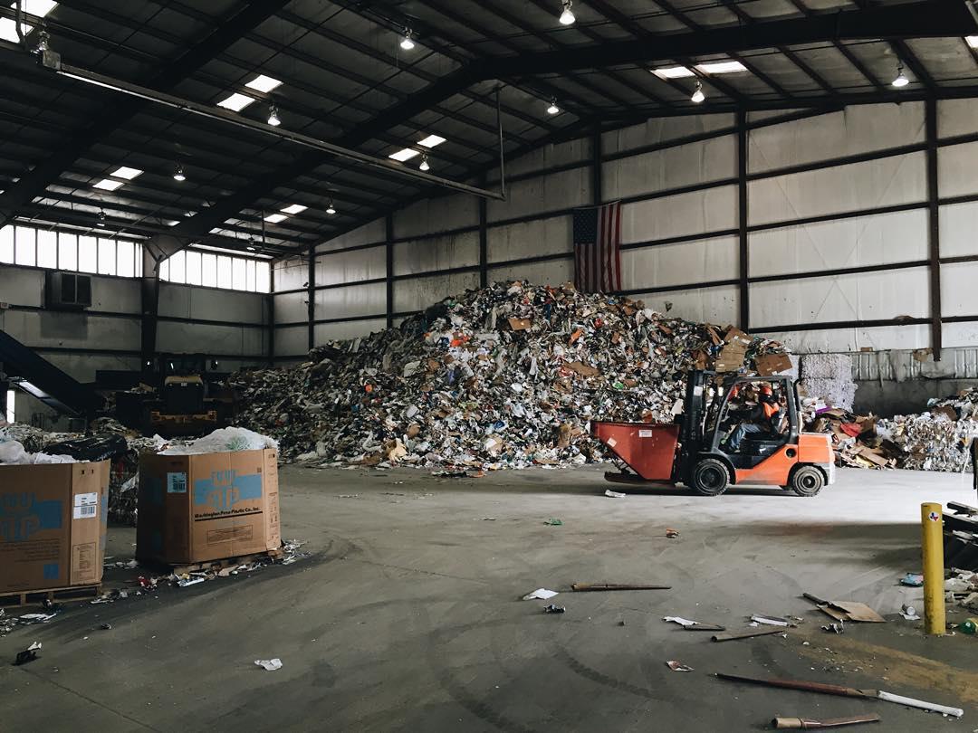 @sretsok at the Pratt Recycling Center in Denton.