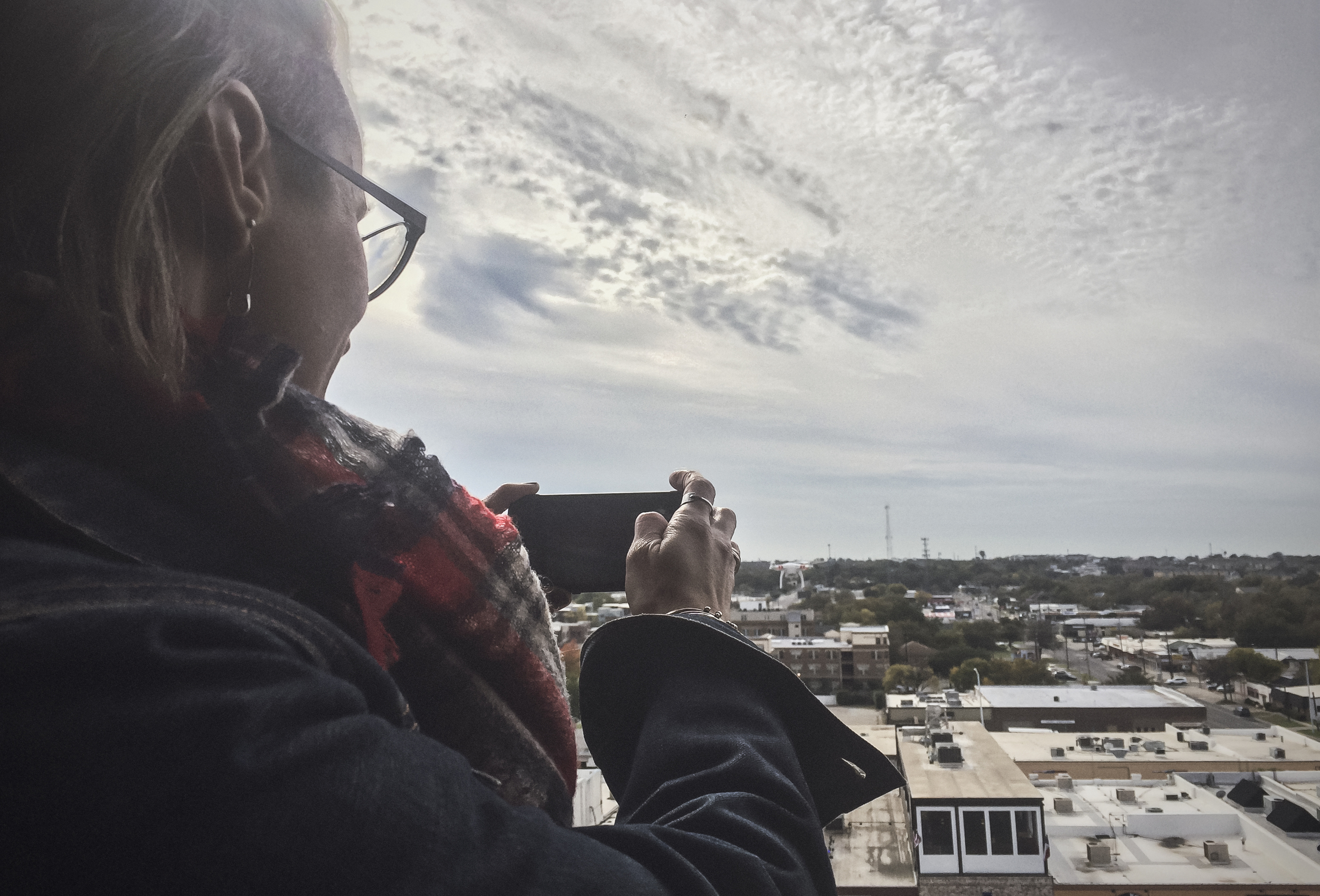 @kkbigley snapping some photos from the top of the courthouse.