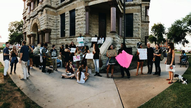@peopleofdenton at the Unity Rally on Friday.
