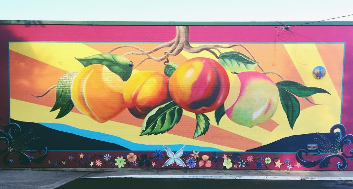 @preciosajohnson scopes out the freshest mural in town.